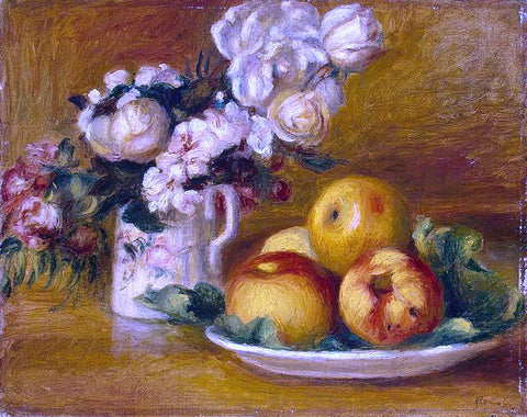 Pierre Auguste Renoir Apples and Flowers - Hand Painted Oil Painting