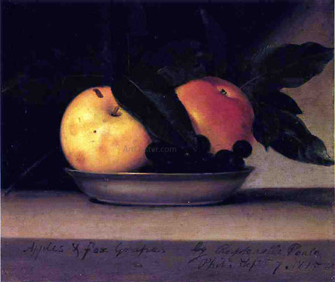 Raphaelle Peale Apples and Fox Grapes - Hand Painted Oil Painting