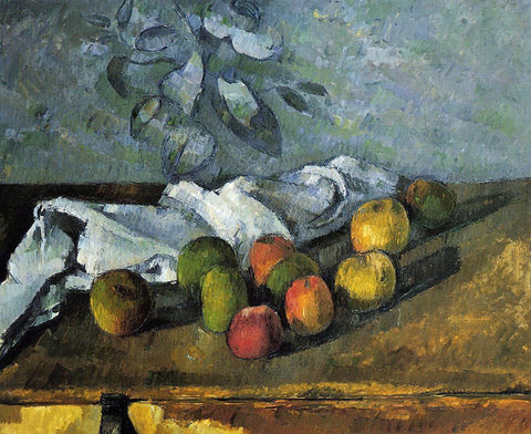 Paul Cezanne Apples and Napkin - Hand Painted Oil Painting