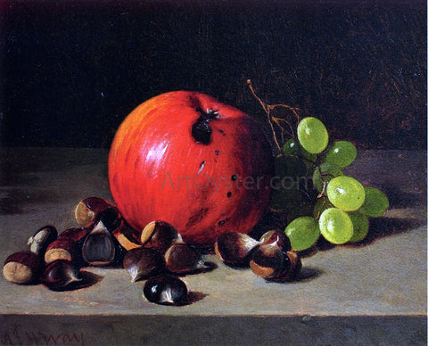 Andrew H. Way Apples, Grapes and Chestnuts - Hand Painted Oil Painting