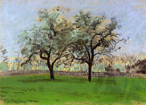 Camille Pissarro Apples Trees at Pontoise - Hand Painted Oil Painting