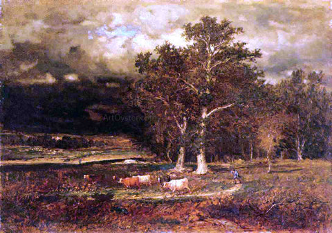 George Inness Approaching Storm - Hand Painted Oil Painting