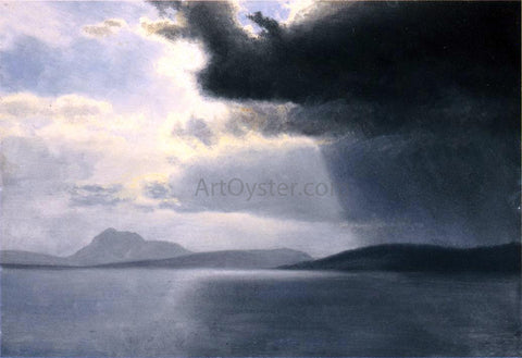 Albert Bierstadt Approaching Thunderstorm on the Hudson River - Hand Painted Oil Painting