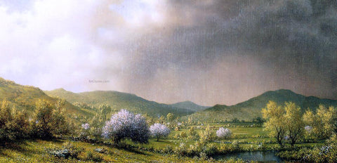 Martin Johnson Heade April Showers - Hand Painted Oil Painting