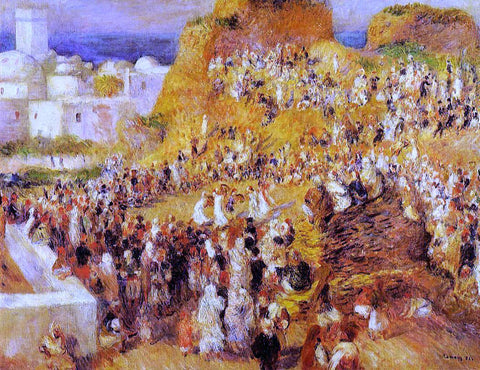 Pierre Auguste Renoir Arab Festival in Algiers (also known as The Casbah) - Hand Painted Oil Painting