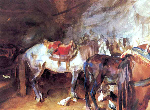 John Singer Sargent Arab Stable - Hand Painted Oil Painting