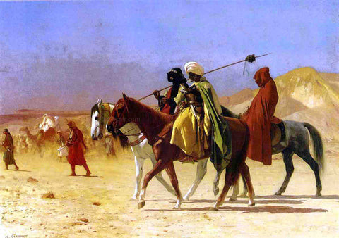 Jean-Leon Gerome Arabs Crossing the Desert - Hand Painted Oil Painting