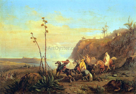 Massimo Marquis D'Azeglio Arabs on Horseback - Hand Painted Oil Painting