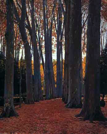 Santiago Rusinol Prats Arboles - Hand Painted Oil Painting