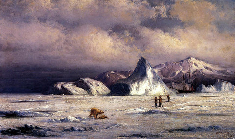 William Bradford Arctic Invaders - Hand Painted Oil Painting