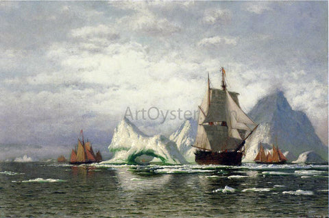 William Bradford Arctic Whaler Homeward Bound Among the Icebergs - Hand Painted Oil Painting