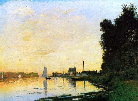 Claude Oscar Monet Argenteuil, Late Afternoon - Hand Painted Oil Painting