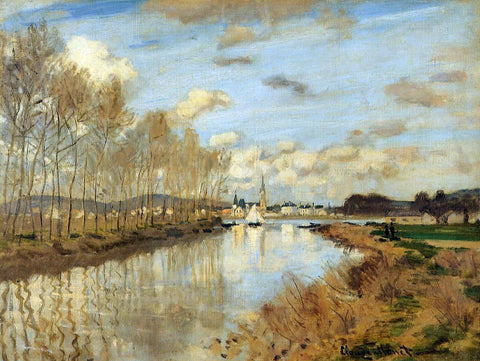Claude Oscar Monet Argenteuil Seen from the Small Arm of the Seine - Hand Painted Oil Painting