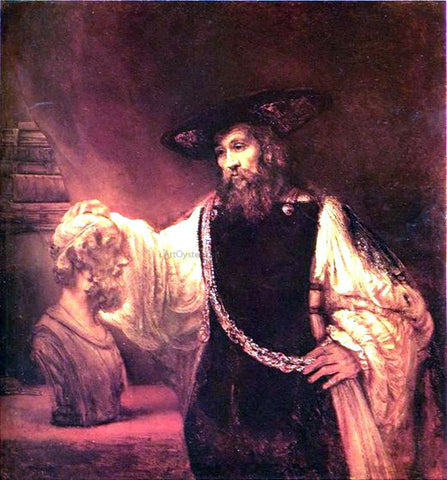 Rembrandt Van Rijn Aristotle with Bust of Homer - Hand Painted Oil Painting