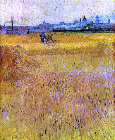 Vincent Van Gogh Arles: View from the Wheat Fields - Hand Painted Oil Painting