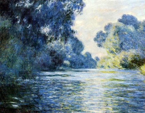 Claude Oscar Monet Arm of the Seine at Giverny - Hand Painted Oil Painting
