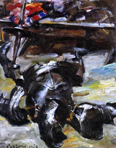 Lovis Corinth Armour in the Studio - Hand Painted Oil Painting