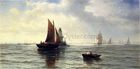 Edward Moran Around the Lighthouse - Hand Painted Oil Painting