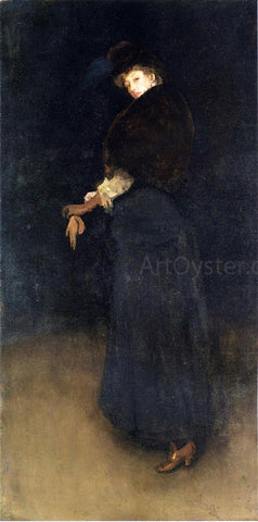 James McNeill Whistler Arrangement in Black: La Dame au brodequin jaune - Portrait of Lady Archibald Campbell - Hand Painted Oil Painting