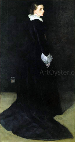 James McNeill Whistler Arrangement in Black, No. 2: Portrait of Mrs. Louis Huth - Hand Painted Oil Painting