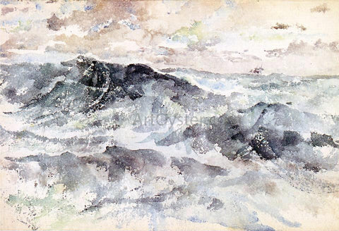 James McNeill Whistler Arrangement in Blue and Silver - The Great Sea - Hand Painted Oil Painting