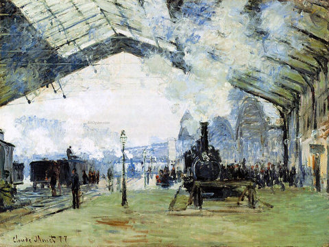 Claude Oscar Monet Arrival of the Normandy Train, Gare Saint-Lazare - Hand Painted Oil Painting