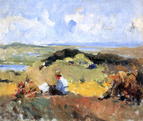 Charles Webster Hawthorne Artist in Plein Air - Hand Painted Oil Painting