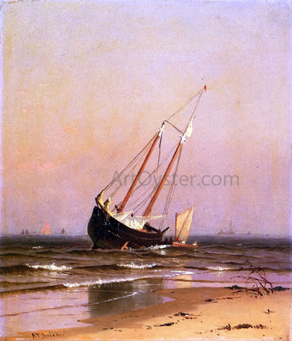 Alfred Thompson Bricher Ashore on Salisbury Beach - Hand Painted Oil Painting