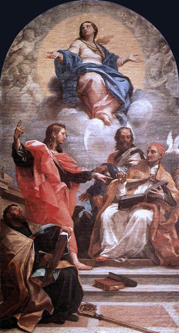 Carlo Maratti Assumption and the Doctors of the Church - Hand Painted Oil Painting