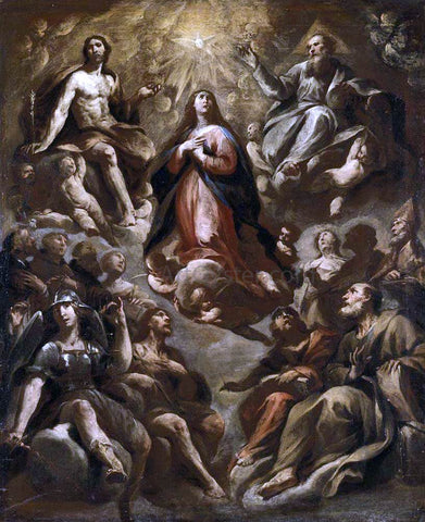Andrea Vaccaro Assumption of the Virgin - Hand Painted Oil Painting