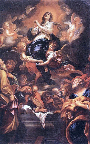 Domenico Piola Assumption of the Virgin - Hand Painted Oil Painting