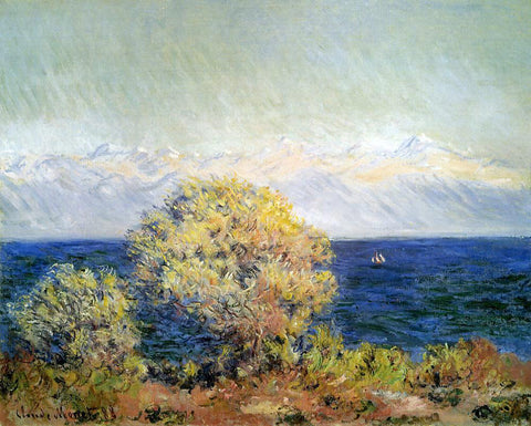Claude Oscar Monet At Cap d'Antibes, Mistral Wind - Hand Painted Oil Painting