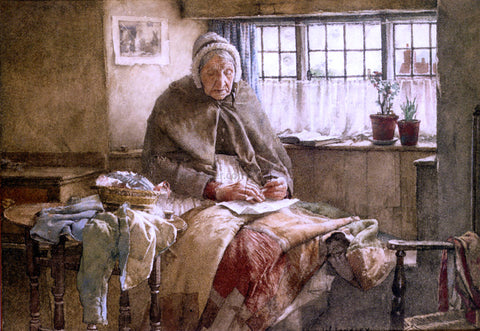 Walter Langley At Evening Time It Shall Be Light - Hand Painted Oil Painting