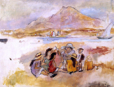 Jules Pascin At La Goulette - Hand Painted Oil Painting