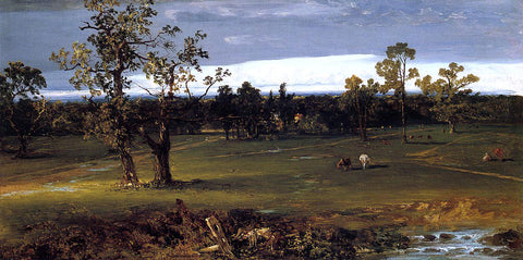 John Frederick Kensett At Pasture - Hand Painted Oil Painting