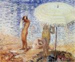 Henri Lebasque At the Beach - Hand Painted Oil Painting