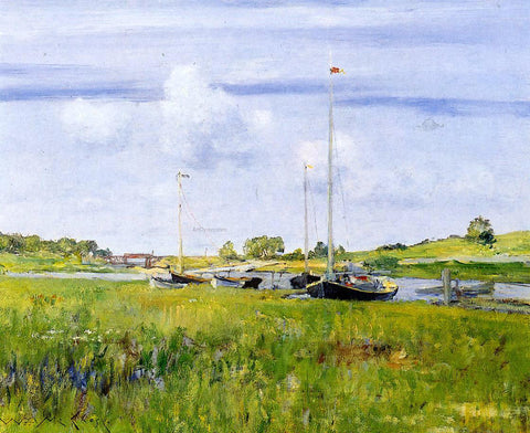 William Merritt Chase At the Boat Landing - Hand Painted Oil Painting