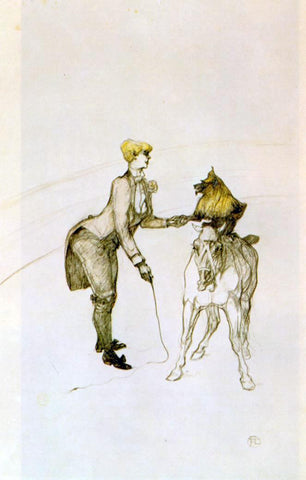 Henri De Toulouse-Lautrec The Circus: The Animal Trainer - Hand Painted Oil Painting