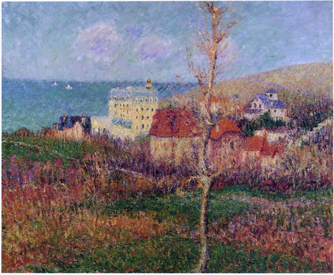 Gustave Loiseau At the Coast of Normandy - Hand Painted Oil Painting