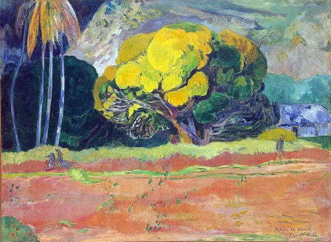 Paul Gauguin At the Foot of the Mountain - Hand Painted Oil Painting