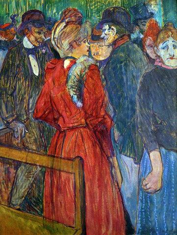 Henri De Toulouse-Lautrec At the Moulin de la Galette - Hand Painted Oil Painting