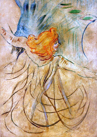 Henri De Toulouse-Lautrec At the Music Hall - Loie Fuller - Hand Painted Oil Painting