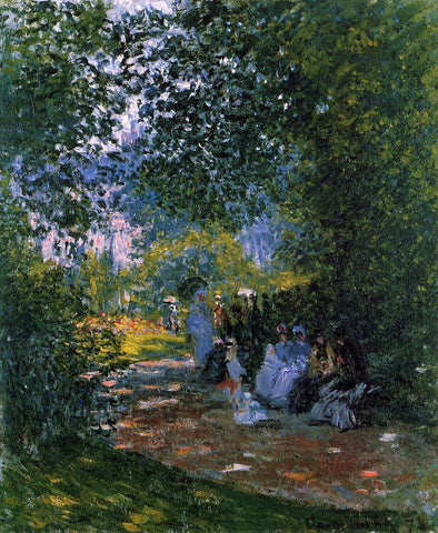 Claude Oscar Monet At the Parc Monceau - Hand Painted Oil Painting