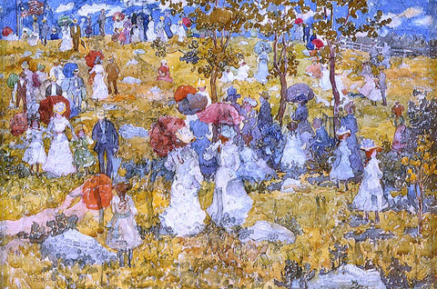 Maurice Prendergast At the Park - Hand Painted Oil Painting