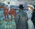 Henri De Toulouse-Lautrec At the Races - Hand Painted Oil Painting