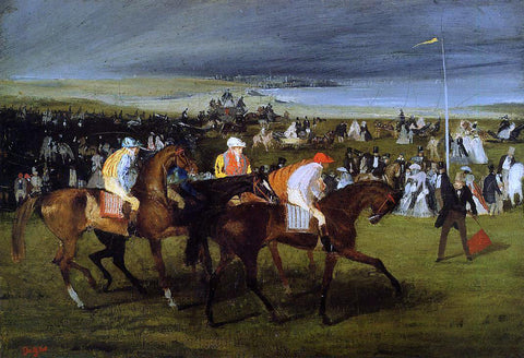 Edgar Degas At the Races: the Start - Hand Painted Oil Painting