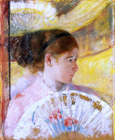 Mary Cassatt At the Theater - Hand Painted Oil Painting