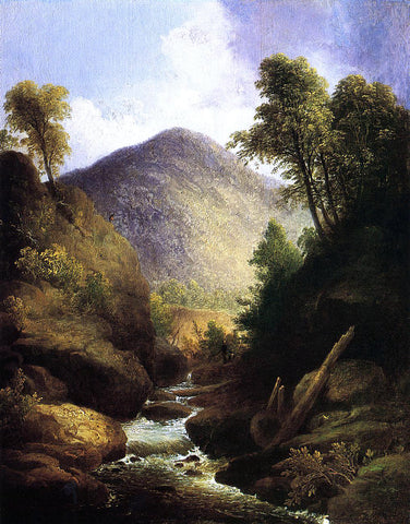 Thomas Doughty At the Waterfall - Hand Painted Oil Painting
