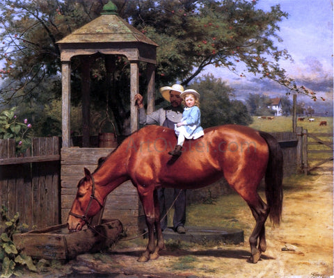 Seymour Joseph Guy A Watering Trough - Hand Painted Oil Painting