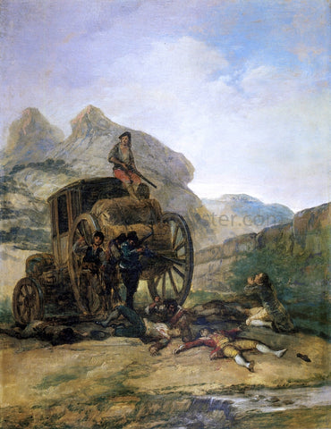 Francisco Jose de Goya Y Lucientes Attack on a Coach - Hand Painted Oil Painting
